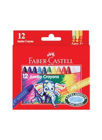 Faber-Castell 12 Jumbo Wax Crayons