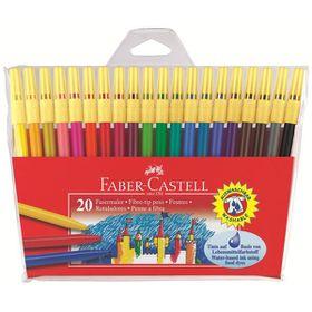 Faber-Castell Fibre Tip Pens (Wallet of 20)
