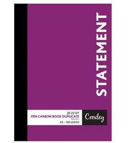 Croxley JD22DT A5 Statement Pen Carbon Book Duplicate