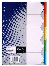 Croxley JD1479 Bright Rainbow A4 5 Part Dividers