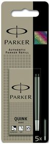 Parker Quink Fountain Pen Refill Cartridges - Black Ink (5s)