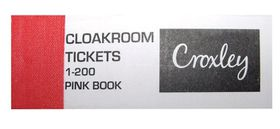 Croxley Cloakroom Tickets 1-200 (Pink)