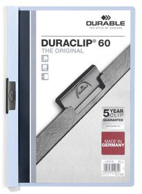 Durable Duraclip 60 Page Folder - Grey