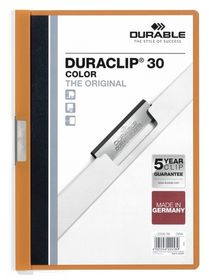 Durable Duraclip 30 Page Folder - Orange