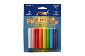Penguin Modeling Clay - 8x 100g Assorted Colours