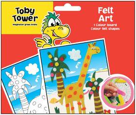 Toby Tower Felt Art - Giraffe
