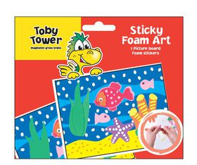 Toby Tower Sticky Foam Art - Fish