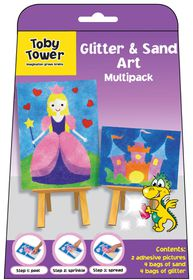 Toby Tower Glitter & Sand Art Multipack - Princess & Castle
