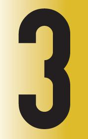 Tower Adhesive Reflective Number Sign - Medium 3