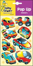 Toby Tower Pop Up Stickers - Fast Cars