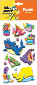Toby Tower 3D Foam Stickers - Whale