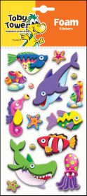 Toby Tower 3D Foam Stickers - Seahorse