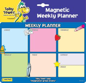 Toby Tower A4 Weekly Planner - Blue