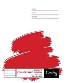 Croxley JD328 72 Page A4 F&M Exercise Book (10 Pack)