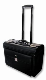 Laptop Pilot Case with Wheels - Black