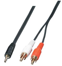 Lindy 3M 1X 3.5mm Stereo M To 2X Rca M (35492)