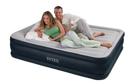 Intex Deluxe Pillow Raised Airbed - Navy