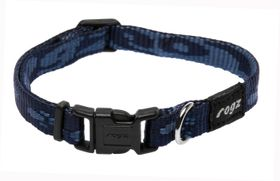 Rogz Small Alpinist Kilimanjaro Dog Collar - 11mm Blue