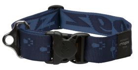 Rogz - Alpinist Big Foot Dog Collar - 2 x Extra-Large - 4cm Blue