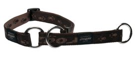 Rogz Medium Alpinist Matterhorn Web Half-Check Dog Collar - 16mm Chocolate