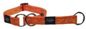 Rogz Large Alpinist K2 Web Half-Check Dog Collar - 20mm Orange