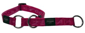 Rogz Large Alpinist K2 Web Half-Check Dog Collar Large - 20mm Pink