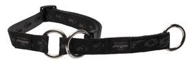 Rogz Extra-Large Alpinist Everest Web Half-Check Dog Collar - 25mm Black