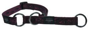 Rogz Extra-Large Alpinist Everest Web Half-Check Dog Collar - 25mm Purple