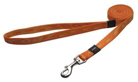 Rogz Medium Alpinist Matterhorn Fixed Dog Lead - 16mm Orange