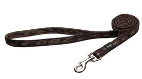 Rogz Medium Alpinist Matterhorn Fixed Dog Lead - 16mm Chocolate