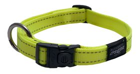 Rogz - Utility Lumberjack Dog Collar - Extra-Large 2.5cm - Yellow Reflective