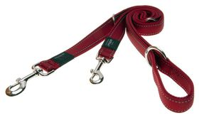 Rogz Utility Fanbelt Multi-Purpose Dog Lead Large - 20mm Red Reflective
