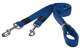 Rogz - Utility Snake Multi-Purpose Dog Lead - Medium 1.6cm - Blue Reflective