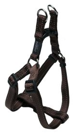 Rogz Utility Fanbelt Step-in Dog Harness Large - 20mm Chocolate Reflective