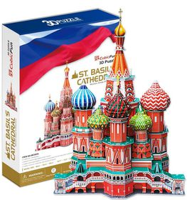 Cubic Fun St Basil's Cathedral Russia - 214 Piece 3D Puzzle