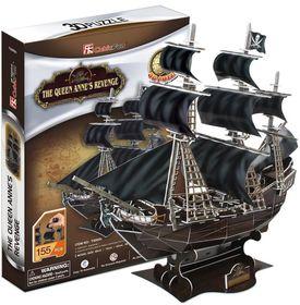 Cubic Fun The Queen Anne's Revenge - 155 Piece 3D Puzzle