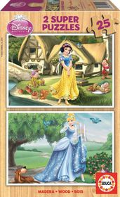 Educa Snow White & Cinderella - 2 x 25 Piece Puzzles