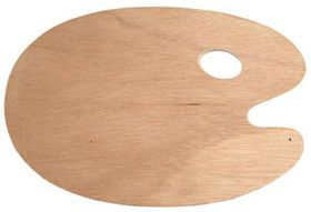 Dala Wooden Kidney Palette - Large