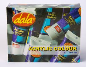 Dala Acrylic Colour Kit - 12 Tube Set