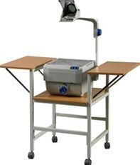Parrot Overhead Projector Trolley Twin Flap - Oak