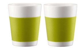 Bodum Canteen Double Wall Mug Set of 2 - Lime Green