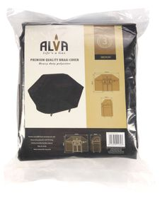 Alva - 3 Burner Heavy Duty BBQ Cover - Black