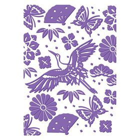 "Couture Creations The Harmony 5 x 7"" Embossing Folder – Oriental Garden"