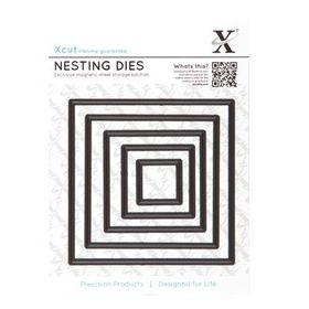 Xcut Nesting Dies - Square 5 Piece Set