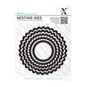 Xcut Nesting Dies - Scalloped Circle 5 Piece Set