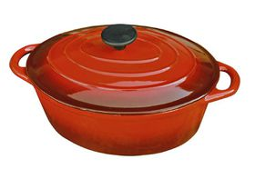 LK's - Oval Casserole - Red - 3L