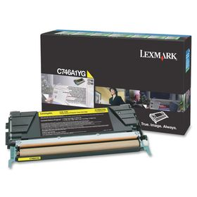 Lexmark C746, C748 Yellow Return Program Toner Cartridge