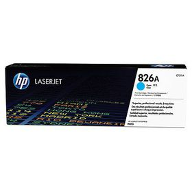 HP # 826A CLJ M855 Cyan Print Cartridge. Approximate cartridge yield 31500 pgs based on 5% coverage