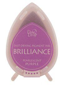 Tsukineko Brilliance Dew Drop Ink Pad - Pearlescent Purple