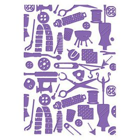 "Couture Creations Who What Wear 5x7"" Embossing Folder - Bibs and Bobs"